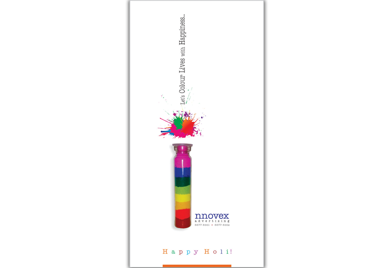 Innovex Happy Holi Greeting Card