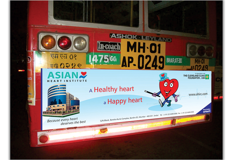 Asian Heart Institute Best Bus Ad Concept
