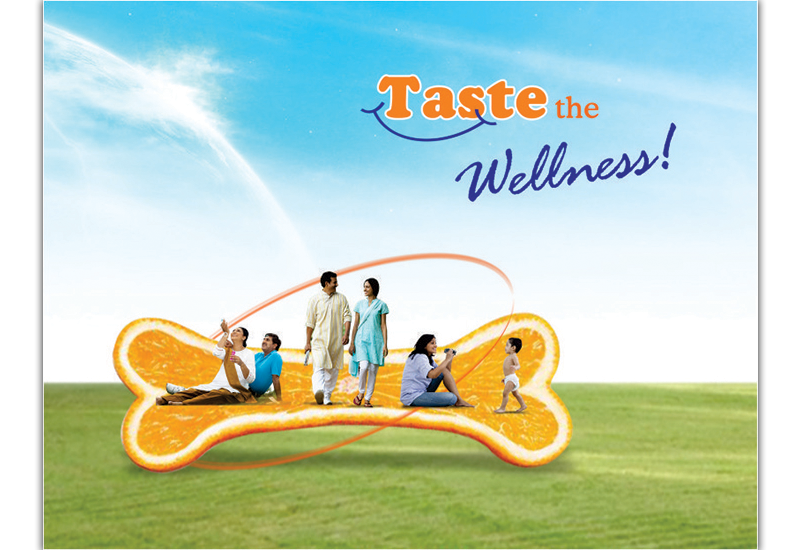 Taste the Wellness Ad Concept